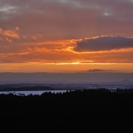 Západ slunce z Čápu