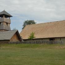 Archeoskanzen Modrá - věž a knížecí palác