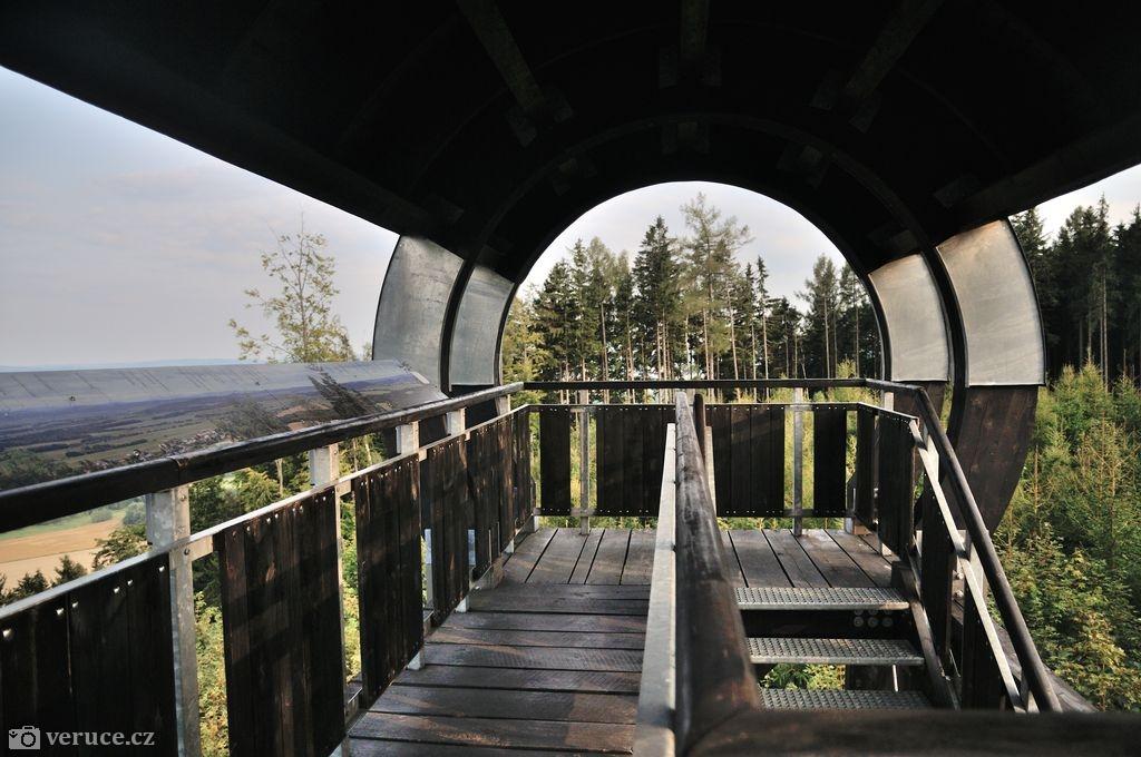 Rozhledna Strážný vrch na Hřebečském hřbetu