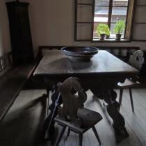 Valašské muzeum v přírodě -Dřevěné městečko - Fojtství z Velkých Karlovic (interiér)