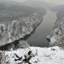 Smetanova vyhlídka v zimě