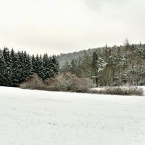 U vyhlídky Máj v zimě