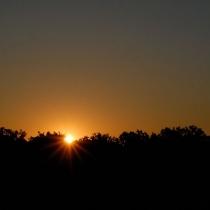 Vysoký vrch - východ slunce