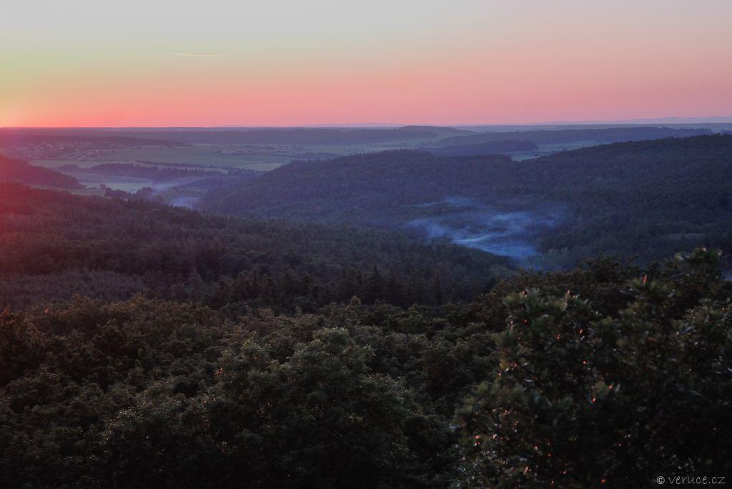 Vysoký Vrch - západ slunce
