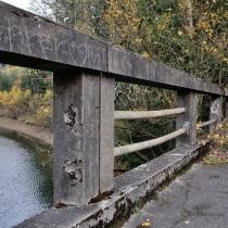 Most přes Sedmpanský potok v roce 2017