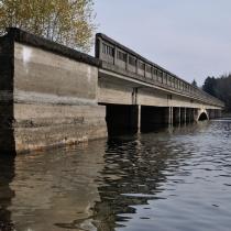 Most přes údolí Sedlického potoka v roce 2017