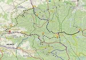 Jizerky - mapa