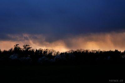 Nevšední západ slunce