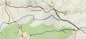 Nízké Tatry (Ďumbier + Chopok) - mapa