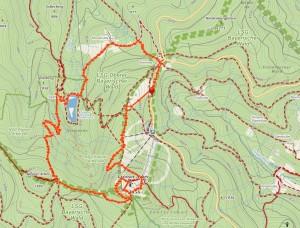 Velký Javor - mapa