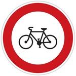 """Značka """"Zákaz vjezdu cyklistů"""""""